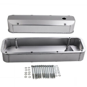 For Bb Ford Bbf Fabricated Aluminum Valve Covers 429 460 1968 1988 V8 Bolts