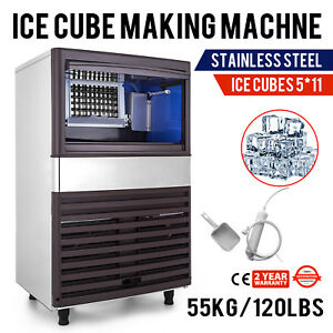 55kg 120lbs Intelligent Ice Cube Making Machine 5x11 Pcs Ice cream Stores Cafes