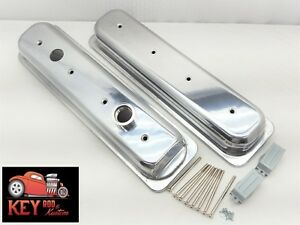 Chevy Lt1 Polished Aluminum Valve Covers 5 7 4 3 V8 Camaro Impala 1993 97 Sbc