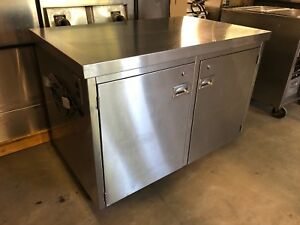 4 X 29 Stainless Steel Commercial Prep Work Table Enclosed Cabinet Heavy Duty