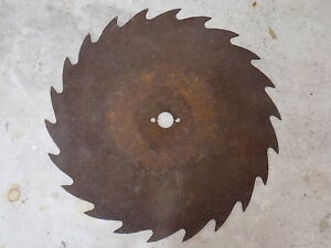 Antique Saw Blade Huge Sawmill 22 Tooth 29 1 4 Wide 1 8 Thick Rustic Farm Art