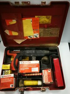 Ramset Single Shot Tool With Case And Extras