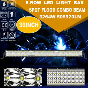 30inch 3264w Cree Led Work Light Bar Spot Flood Suv Atv Ute 4wd Offroad Tractor