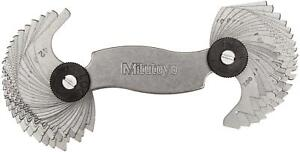Mitutoyo 188 151 Screw Pitch Gage 4 42 Tpi And 0 4 7mm 51 Leaves