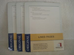 Organizer Refill Franklin Covey Lined Pages New Lot Of 3 Monarch Size