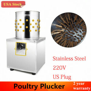 Pro Stainless Steel Poultry Plucker Chickens Machine Feather Birds Plucking 220v