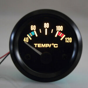Universal 2 52mm Car Pointer Water Temperature Temp Gauge 40 120 Led Light Us