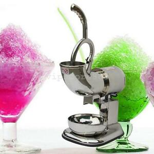 Stainless Ice Shaver Snow Cone Maker Shaved Icee Electric Crusher Machine device