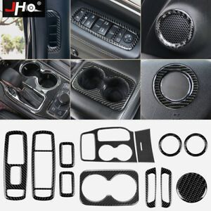 Car Accessories Real Carbon Fiber Trims Kit For 2014 2019 Jeep Grand Cherokee 16