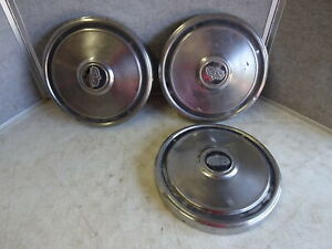Lot Of 3 Vintage Ford Truck Dog Dish Hubcaps 1972 76