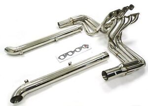 Maximizer Header W Side Pipes For Chevy Corvette 65 74 Big Block 396 454
