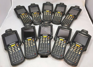 Lot Of 10 Motorola Symbol Mc3090r lc48s00ger Laser Wireless Barcode Scanners
