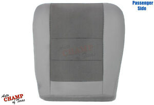 2005 Ford Excursion Xlt Passenger Side Bottom Replacement Cloth Seat Cover Gray