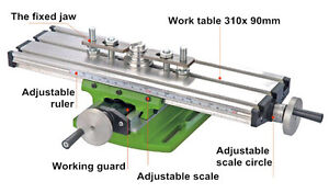 Diy Multi function Milling Machine Mini Lathe With Cross Sliding Table 310 90mm