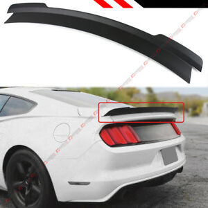 For 2015 2019 Ford Mustang R Style V2 Matt Black Highkick Trunk Lid Spoiler Wing