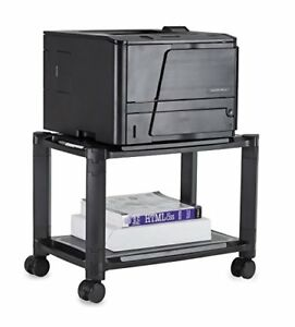 Mount it Printer Stand With Wheels Rolling Printer Cart Height Adjustable Cart