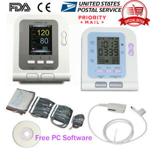 Fda Us Automatic Blood Pressure Monitor Machine Meter Arm Bp Cuff Optional Spo2