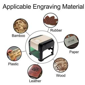 3000mw Mini Desktop Laser Engraving Machine With Carver Size 80x80mm High Speed