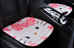 Hello Kitty Car Accessories Cherry Cat Cute Car Front Rear Seat Cover