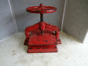 Vintage Cast Iron Book Press