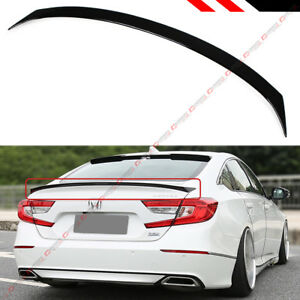 For 2018 19 Honda Accord Jdm Style Painted Glossy Black Pearl Trunk Lid Spoiler