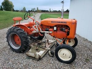 1938 Allis Chalmers B Tractor With Woods L59 Mower