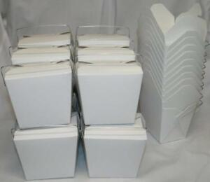 Amk Chinese Take Out To Go Food Boxes 16 Oz 1 Pint Lot Of 50 White
