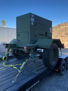 Mep 804a 15 Kw Military Generator On Trailer
