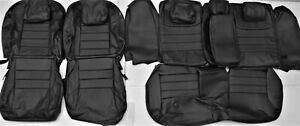 Fits 2012 2015 Honda Civic Si 4dr Sedan Black Leather Upholstery Seat Cover Set