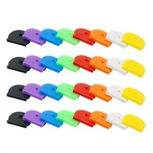 32 Pcs Key Caps Tags Ring Label Id Silicone Coding Color Cover Caps