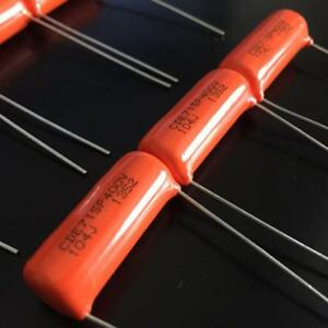 100 Pcs Cde Sprague 715p 1uf 400v Film Capacitor 0 1uf 104 Orange Drop g239 Xh