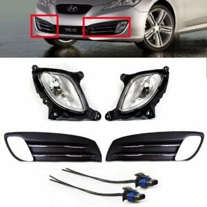 Fog Light Lamp Cover Wire Set Genuine Parts For Hyundai 2009 11 Genesis Coupe