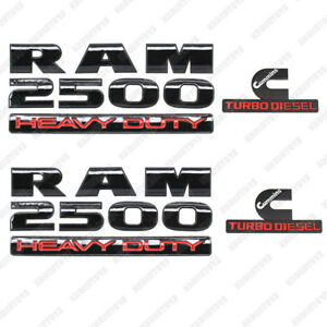 For 2013 2018 Dodge Ram 2500 Grille Emblem Tailgate Cummins Turbo Diesel Badge