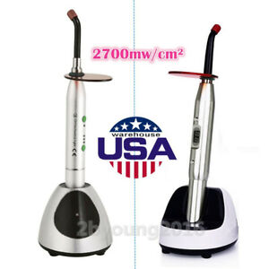 Usps Dental Wireless Led Curing Light 2700mw c Silver Ys c jas 2001b