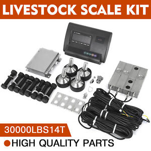 30000lbs Livestock Scale Kit For Animals Stable Stainless Steel Load Cells