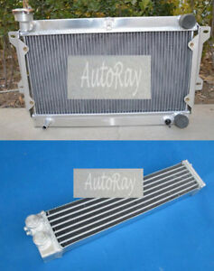 Aluminum Radiator oil Cooler For Mazda R100 Familia Rotary 1000 1200 1300 68 73