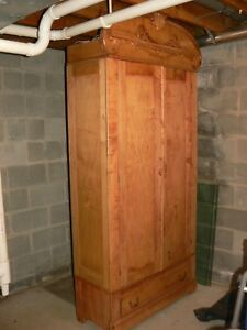 Antique Large Victorian Armoire Wardrobe Cabinet 89 Tall