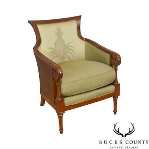 Tommy Bahama For Lexington Regency Style Caned Bergere Club Chair