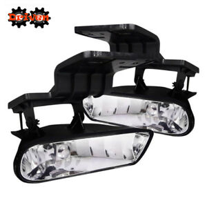 99 02 Chevy 00 06 Suburban Tahoe Silverado Crew Single Cab Clear Fog Lights