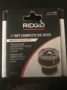 Ridgid 1 2 Npt Complete Die Head Model 00 r