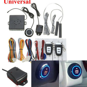 Immobilizer Rfid Entry Security System Keyless Start Stop Push Button Remote Set