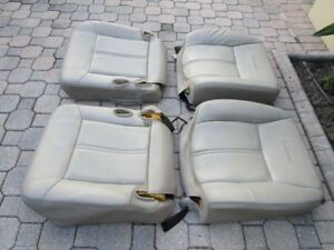 03 05 Lincoln Town Car Lh Rh Front Seats Leather Gray Stone Oem