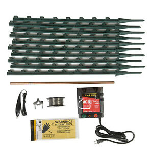 Zareba Ac Garden Protector Electric Fence Kit Gauge Aluminum Wire Insect Control