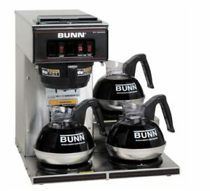 Bunn Vp17 3 Commercial Pourover Brewer With 3 Warmers Ships Free