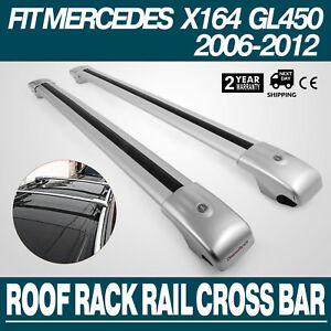 Silver Roof Rack For Mercedes Benz X164 Gl450 2006 2012 Roof Rails Luggage Cargo