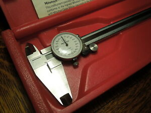 Mitutoyo 505 627 Dial Caliper In Hard Case 8 001 Used Very Good