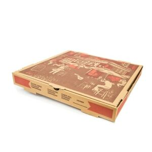 Westrock Kraft D flute Corrugated Pizza Box 16 Stock Print 50 bundle