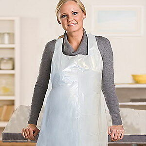 Royal Poly Apron White 24 Width X 42 Length Includes Ten Packs Of 100 Each