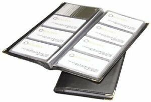 Rolodex Business Card Book 96 card Black And Gold 67473 3 pack