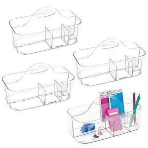 Mdesign Small Desk Organizing Tote For Office Or Craft Room Use Pack Of 4